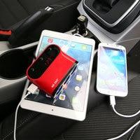 Sast cargador coche 2 puertos USB voltaje Monitores cigarrillo ligher para xiaomi redmi Huawei iphone
