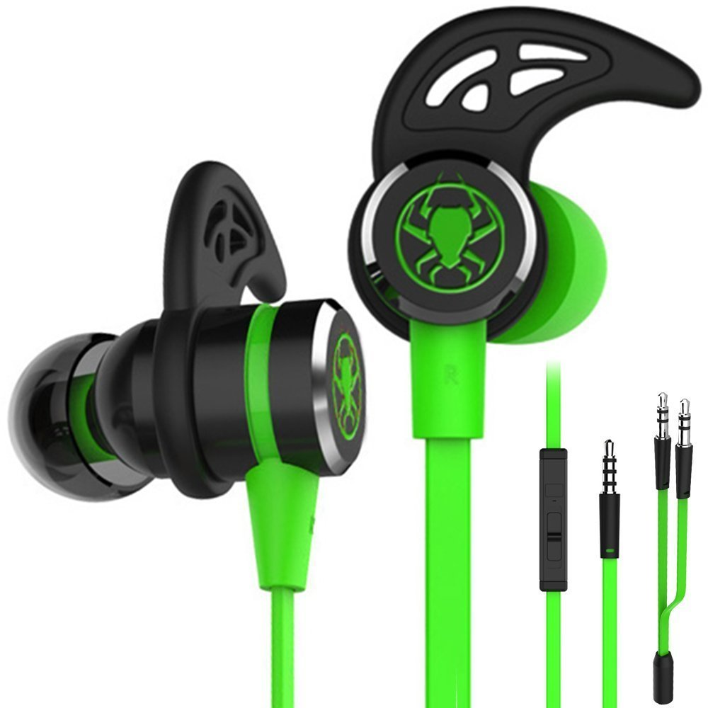 in-ear earphone 3.5mm gaming headset gamer deep bass wired flat earphones With Microphone For PUBG computer phone ps4 xbox one plextone g20 wired magnetic gaming headset in ear game earphone with mic stereo 2m bass earbuds computer earphone for pc phone