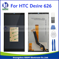 Black display lcd original + touch screen digitador assembléia peças de reposição para htc desire 626 d626 626d 626g 626 w + ferramentas