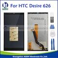 Negro original lcd pantalla + touch pantalla digitalizador asamblea piezas de repuesto para htc desire 626 d626 626d 626g 626 w + herramientas