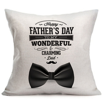 Felice Giorno del Padre Pillow Cuscino Federa Al Mio Meraviglioso Regalo Papà