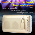 New BT 4.0 Sunshield Bluetooth Car Kit In-Car Speakerphone Handsfree Car bluetooth headset Car-charger Fm Transmitter