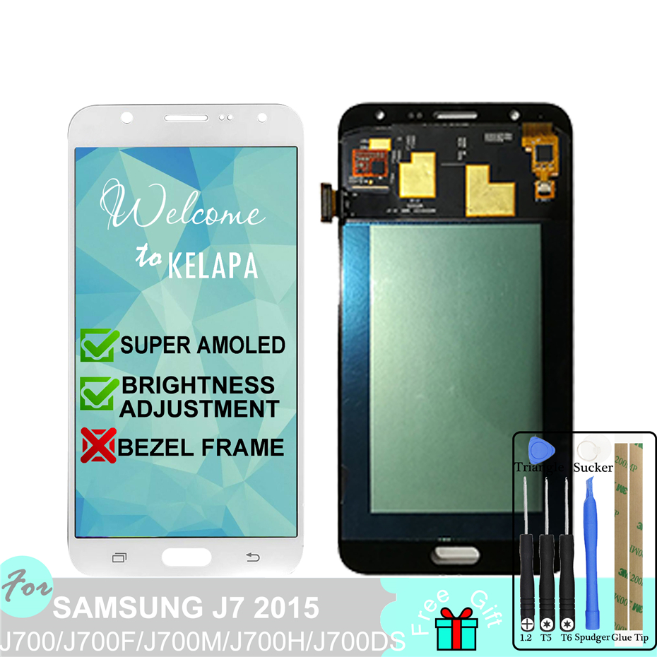 Super AMOLED LCD For Samsung J7 2015 J700F J700M J700H J700DS Touch Screen Digitizer AssemblySuper AMOLED LCD For Samsung J7 2015 J700F J700M J700H J700DS Touch Screen Digitizer Assembly