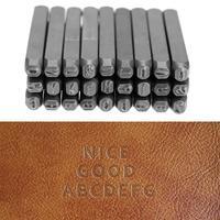 27pcs 3mm DIY Handmade Letter Steel Stamp Letters Alphabet Set Case Jewelers Metal Set Leather Craft