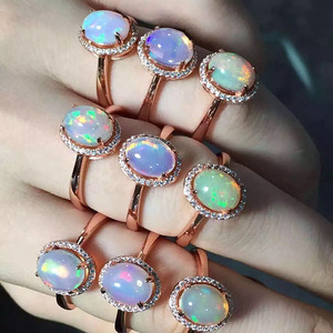 Image 3 - [MeiBaPJ Natural Opal Gemstone Fashion Ring for Women Real 925 Sterling Silver Charm Fine Jewelry