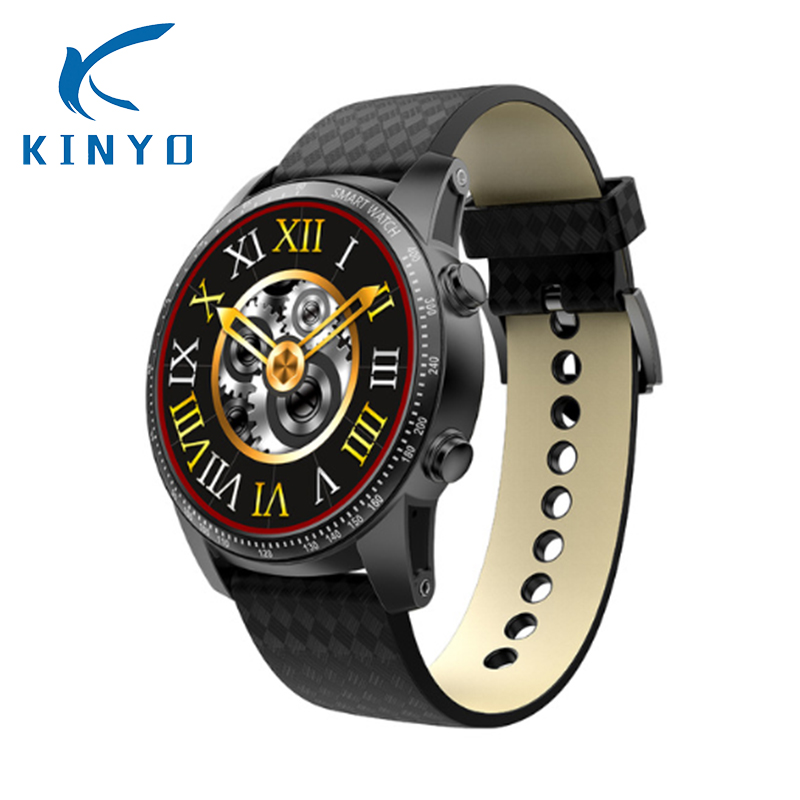 Smart Watch Wristwatch 1.39 Inch MTK6580 Quad Core 1.3GHZ Android 5.1 3G Smartwatch 400mAh 2.0 Mega Pixel Heart Rate Monitoring