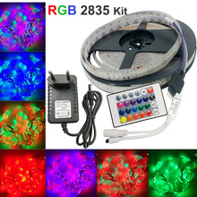 5m 2835 LED Strip led stripe Light Waterproof rgb Strip 3528 DC12V 60LEDs/M3528 lighting Blue/Whitr/Wram white for 2A adapter eu
