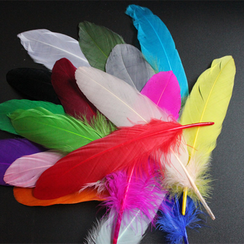 Diy Feather Bouquets Weddings: Cheap For Sale 360pcs Colorful DIY Dyed Goose Feather