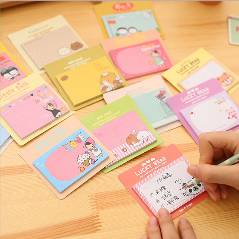 Adaptable Cute Kawaii Cartoon Animal Finger Unicorn Memo Pad N Times Sticky Note Paper Korean Stationery Cat Planner Sticker School Office Memo Pads