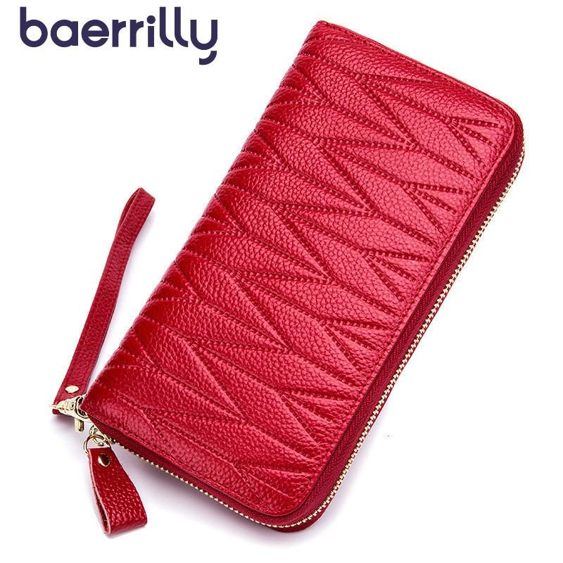 Fashion Women Wallet Long Clutch Bags Anti Rfid Business Card Holder Card Porte Feuille Femme Money Pocket Coin Purse Zipper