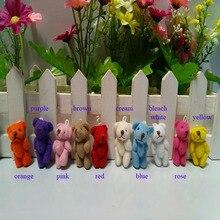 100pcs/lot, Wholesale  3.5cm Mini joint bear teddy bear,  mini plush teddy bear, mini plush Stuffed Toy 10 colors to choosedoll partdoll eyetoy doll stroller