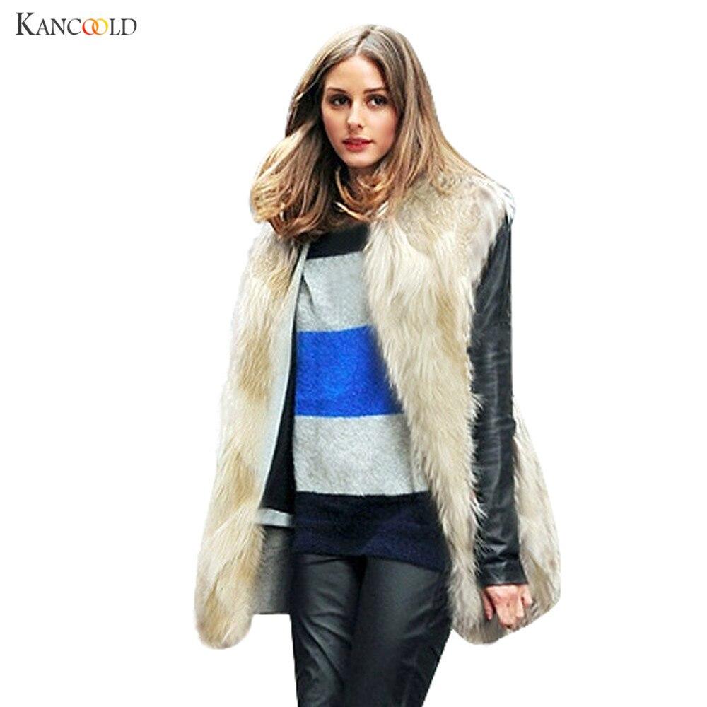 New Long Sleeveless Vest Faux Fox Fur Gilvet Faux Fox Fur Vest Women Fashion Fur Waistcoat fur vest colete de inverno nov06