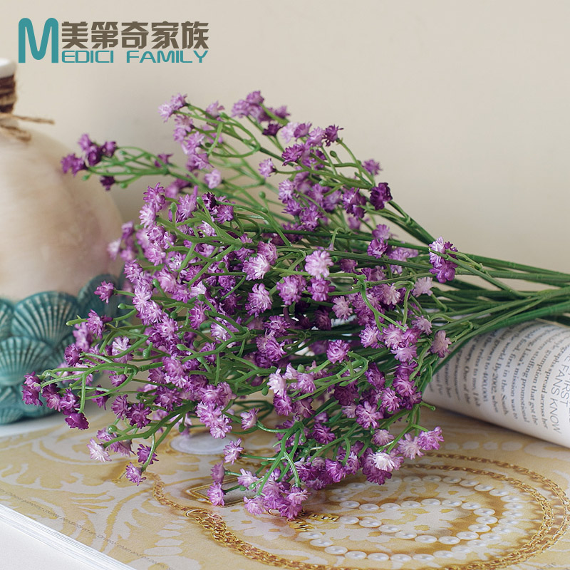 Gypsophila paniculata flower simulation flower arrangement flower room living room study ...