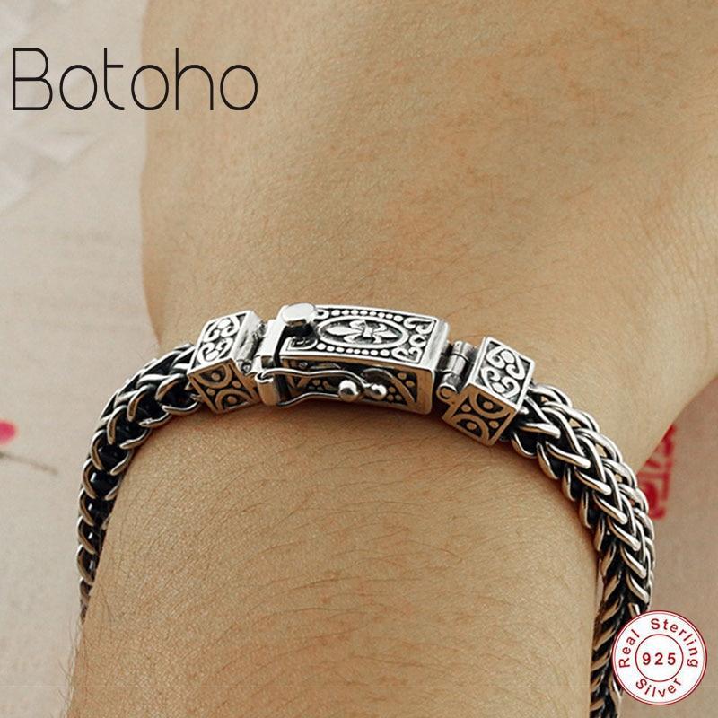 100% 925 sterling silver braccialetto di ancoraggio 8 millimetri classic catena cavo di S925 Thai braccialetto d'argento catena di gioielli delle signore degli uomini braccialetto-in Braccialetti e catenine da Gioielli e accessori su  Gruppo 1