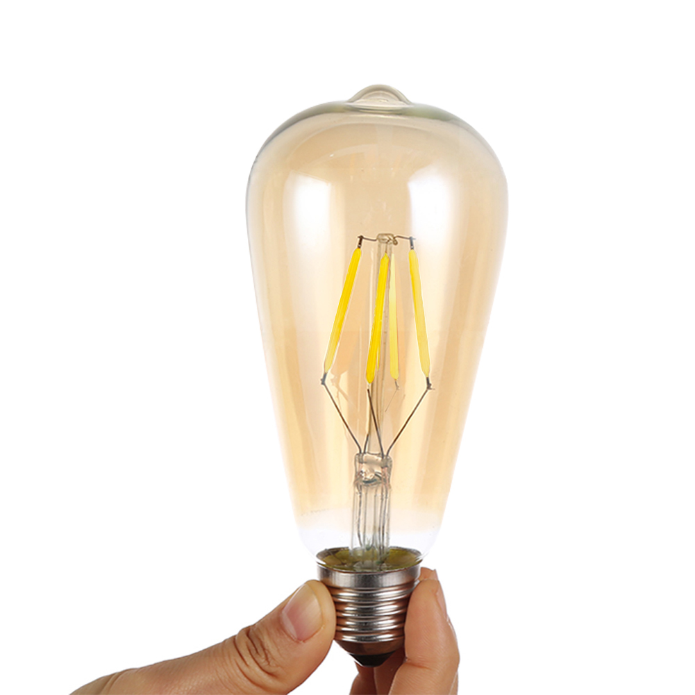 YCDC Incandescent Vintage Edison Light Bulb ST64 220V 4W/8W/12W/16W Golden COB LED Lamp E27 Bulb For Restaurant Club Coffee Bars карандаш для губ provoc semi permanent gel lip liner 28 цвет 28 sexy cabernet variant hex name 8f353a