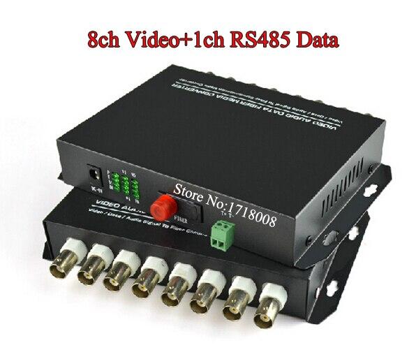 все цены на  8CH Video Fiber Media Converter Transmitter Receiver for Security CCTV Camera 8 Channel Fiber Optic Video Surveillance Extender  онлайн