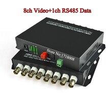 8CH Video Fiber Media Converter Transmitter Receiver for Security CCTV Camera 8 Channel Fiber Optic Video Surveillance Extender