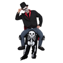 Grim Reaper Pants Black Skull Halloween Party Cosplay Costumes Ride on Me Carry Back Funny Christmas Dress Up Novelty Death Toys