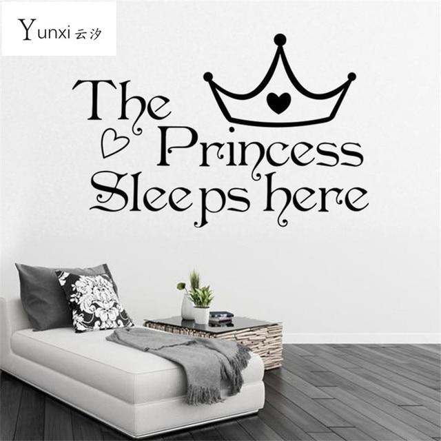 Finestra YunXi La Principessa Dorme Qui Vinile Wall Stickers Per ...