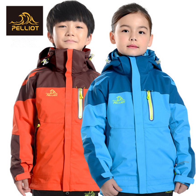 French PELLIOT children's children's clothing for boys and girls three in one wind protection and two pieces of jacket jacket laconic and elegant two pieces of leaves design rings for female