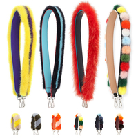 colorful RAINBOW fur strap you for bag handbag large big Wide leather strap blet bag Accessoires Purse Strap Fashion Bag Straps