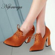5 color nuevo tamaño grande 31-48 moda mujeres zapatos retro punta toe  bombas Encaje-oficina y carrera de tacones altos 31 32 33. f4aa06f871a2