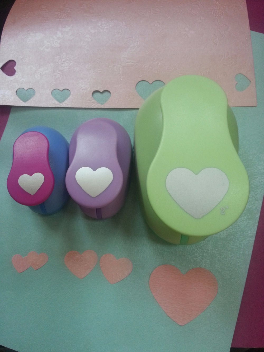 3pcs(5.0cm,2.5cm,1.6cm) heart shape craft punch set Punch Craft Scrapbooking school Paper Puncher eva hole punch free shipping купить недорого в Москве