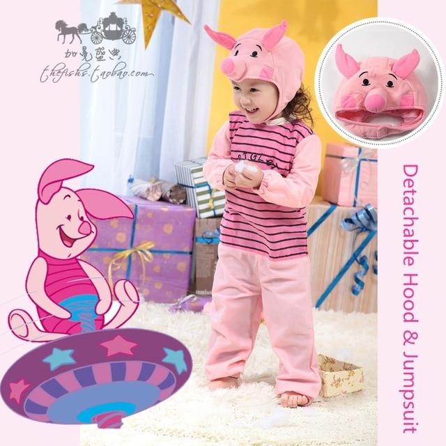 Asli Bayi Deluxe Anak Babi Merah Muda Babi Kartun Hewan Tema Cosplay