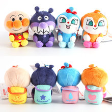 Kawaii Cartoon Mini Japan Anpanman Bread Superman Bacteria Boy Plush Package Doll Pendant For Children Gift