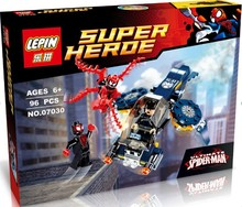 Hot LEPIN 07030 DC Hero Mighty Micros Series Ultimata Spider Man Minifigures Building Block Toys Classic Movie Decoration Gift
