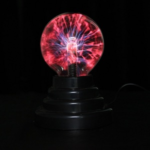 Image 3 - Hot Selling 8*8*13cm USB Magic Black Base Glass Plasma Ball Sphere Lightning Party Lamp Light With USB Cable