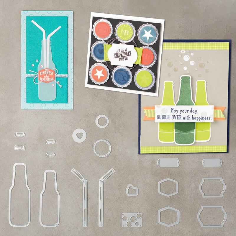 Julyarts Új 18Pcs / lot Bubble Over Softdrink palack szalma vágás - Művészet, kézművesség és varrás