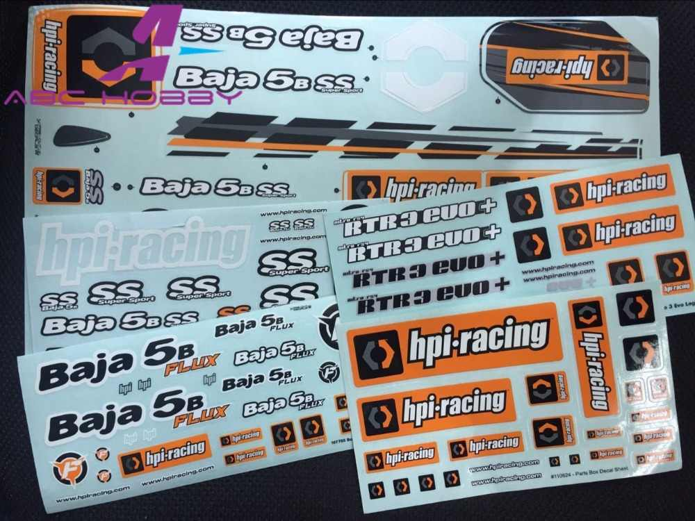Nieuwe 1/8 1/5 RC Crawler Auto DIY Sticker HPI Racing Savage FLUX 4.6 5.9 5B 5SC 5 t