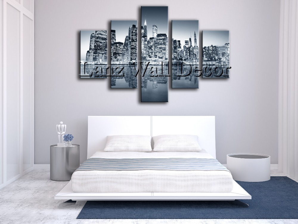 5 Pieces Oil Painting Canvas Prints Landscape New York City Home Rhaliexpress: New York City Home Decor At Home Improvement Advice
