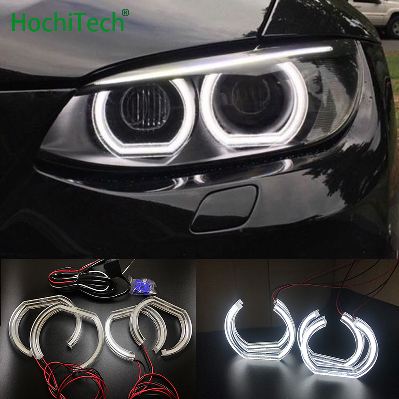 For BMW 3 Series E90 E92 E93 M3 Coupe / cabriolet 2007 2013 High Quality DTM Style White Crystal LED angel eyes Day light DRL
