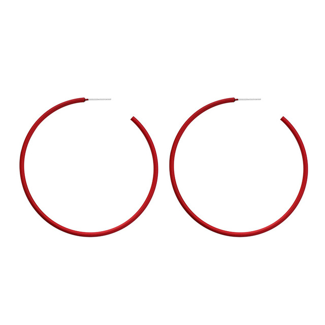 Anti allergy S925 Pin Pink Yellow Red Green White Big Hoop Earrings For Women Opening Thin.jpg 640x640 - Anti-allergy S925 Pin Pink Yellow Red Green White Big Hoop Earrings For Women Opening Thin Minimalist Big Hoop Earring For Girl