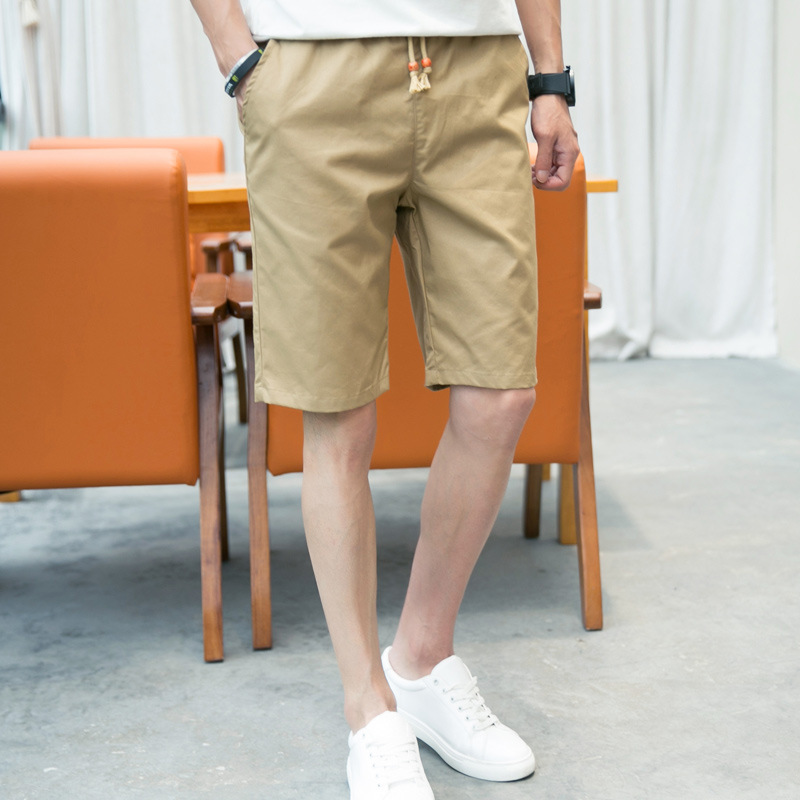 Brand Breathable Elastic Waist Shorts Men Quality Summer Cotton Male Shorts Casual Jogger Plus Size M-5XL Solid Color Shorts