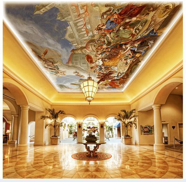 3d Wallpaper Custom Mural Non-woven European Top Ceiling Murals Zenith Ceiling Murals Decoration Photo Wallpaper For Walls 3d