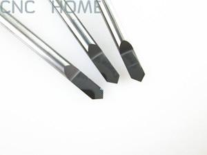 Image 1 - Shank 3.175mm Açısı 90 Tip 0.3mm Freze Araçları için Metal Gravür, Hassas Pürüzsüz CNC Router Oyma Kesme Bıçak Uçları