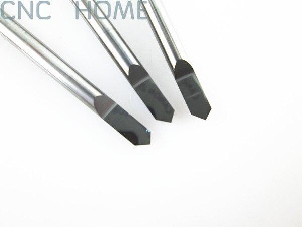 Shank 3.175mm Açısı 90 Tip 0.3mm Freze Araçları için Metal Gravür, Hassas Pürüzsüz CNC Router Oyma Kesme Bıçak Uçları