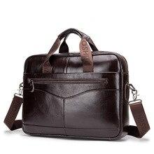Высококачественный мужской портфель, сумки мессенджеры из натуральной кожи, Мужская офисная сумка для ноутбука, деловые мужские портфели WBS723