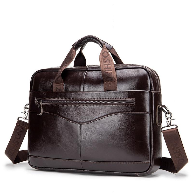 High Quality Men Briefcase Messenger Bags Genuine Leather Men Office Handbag Laptop Business Male Briefcases WBS723