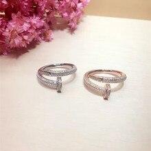 Модельер 925 стерлингов Серебряные ювелирные изделия 3A кубического циркония партия регулируемые кольца