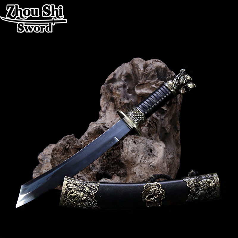 Handmade Tiger Little Sword Fine Gifts Alloy Equipment Stainless Steel Blade Retro Home Decoration Sword