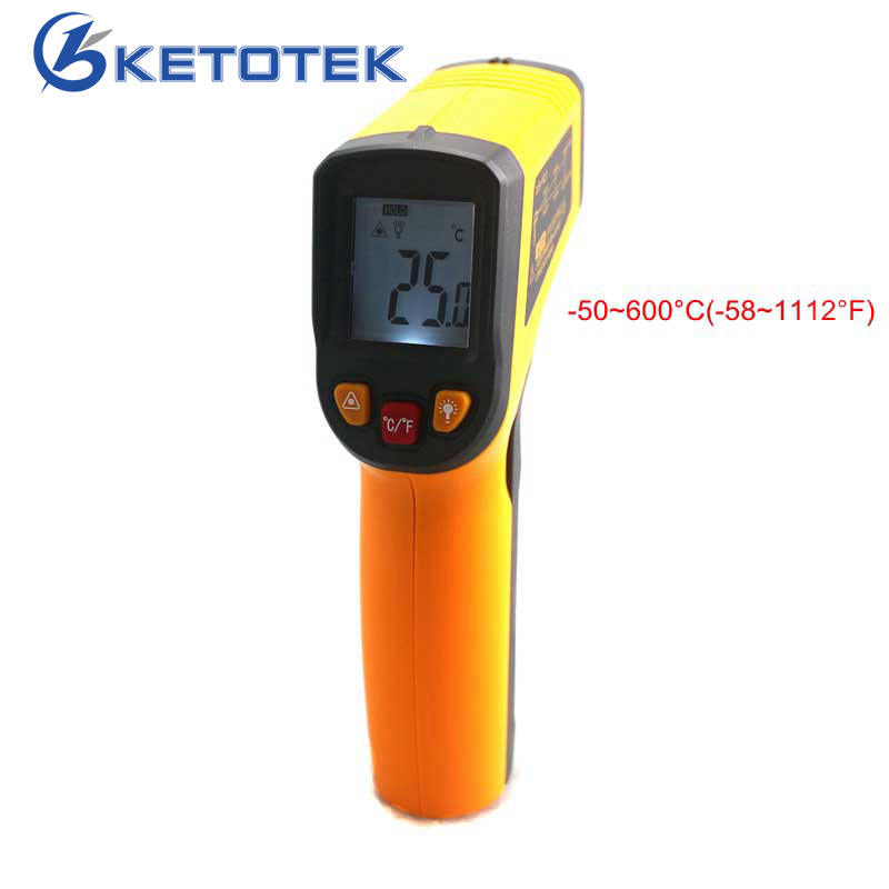 Non-contact IR Infrared Thermometer -50~600C Celsius Portable Digital LCD Gun Temperature Meter with Backlight Replace GM550  ht 6885 non contact high temperature infrared thermometer backlight lcd display