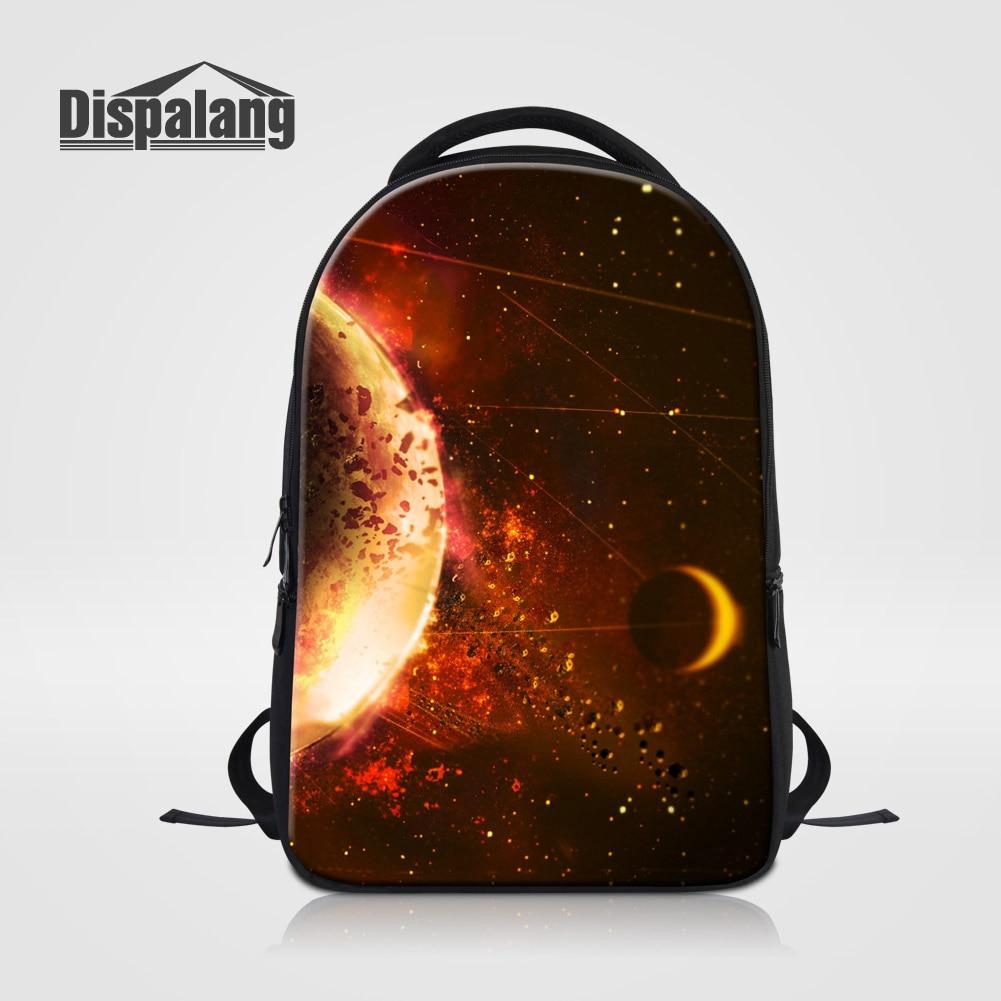 Dispalang 3D impression Galaxy école sac à dos pour adolescents personnalisé univers espace pochette d'ordinateur Cool Mochilas mâle Rugzak Pack