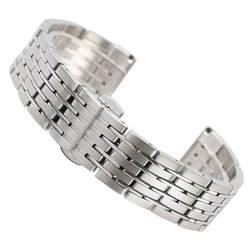 Ремешок для часов 20 мм 22 мм 24 мм серебро твердой Нержавеющаясталь ремешок Кнопка Скрытая застежка для часы час замена