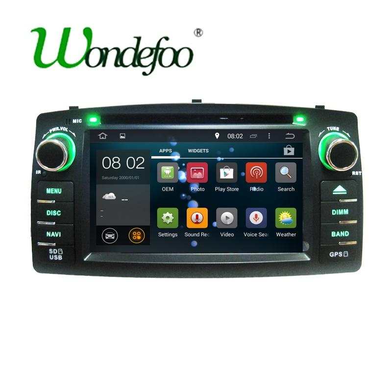 imágenes para Para BYD F3 Toyota Corolla E120 Android 7.1 Quad core RAM 2G/1G 7851 IC 2Din Coche DVD estéreo del GPS con pantalla táctil de WIFI radio de Coche