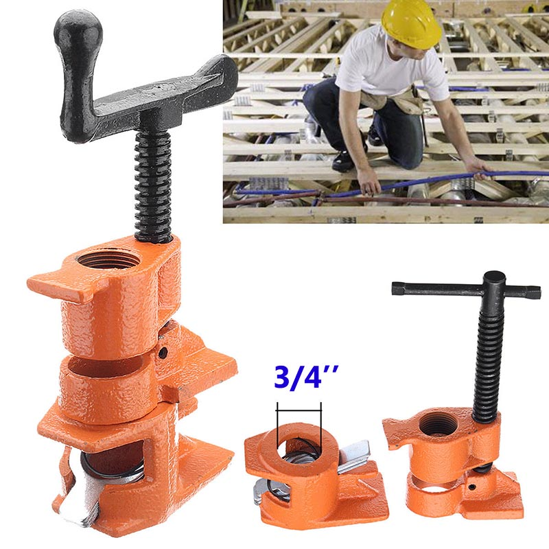 1/2 3/4inch Wood Gluing Pipe Clamp Set Cast Iron Heavy Duty Woodworking Carpenter Tool ALI88 самокат action 125мм pu cms125