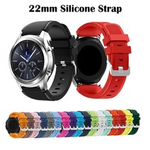 Gear S3 Frontier/Classic Watch Band 22mm Silicone Sport Replacement Watch Men women's Bracelet Strap for Samsung Galaxy 46mm silicone sport watchband for gear s3 classic frontier 22mm strap for samsung galaxy watch 46mm band replacement strap bracelet